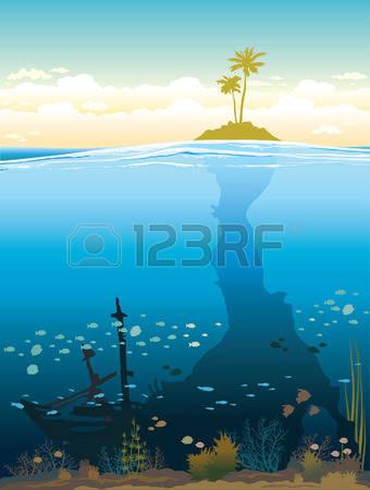 Tree underwater clipart.
