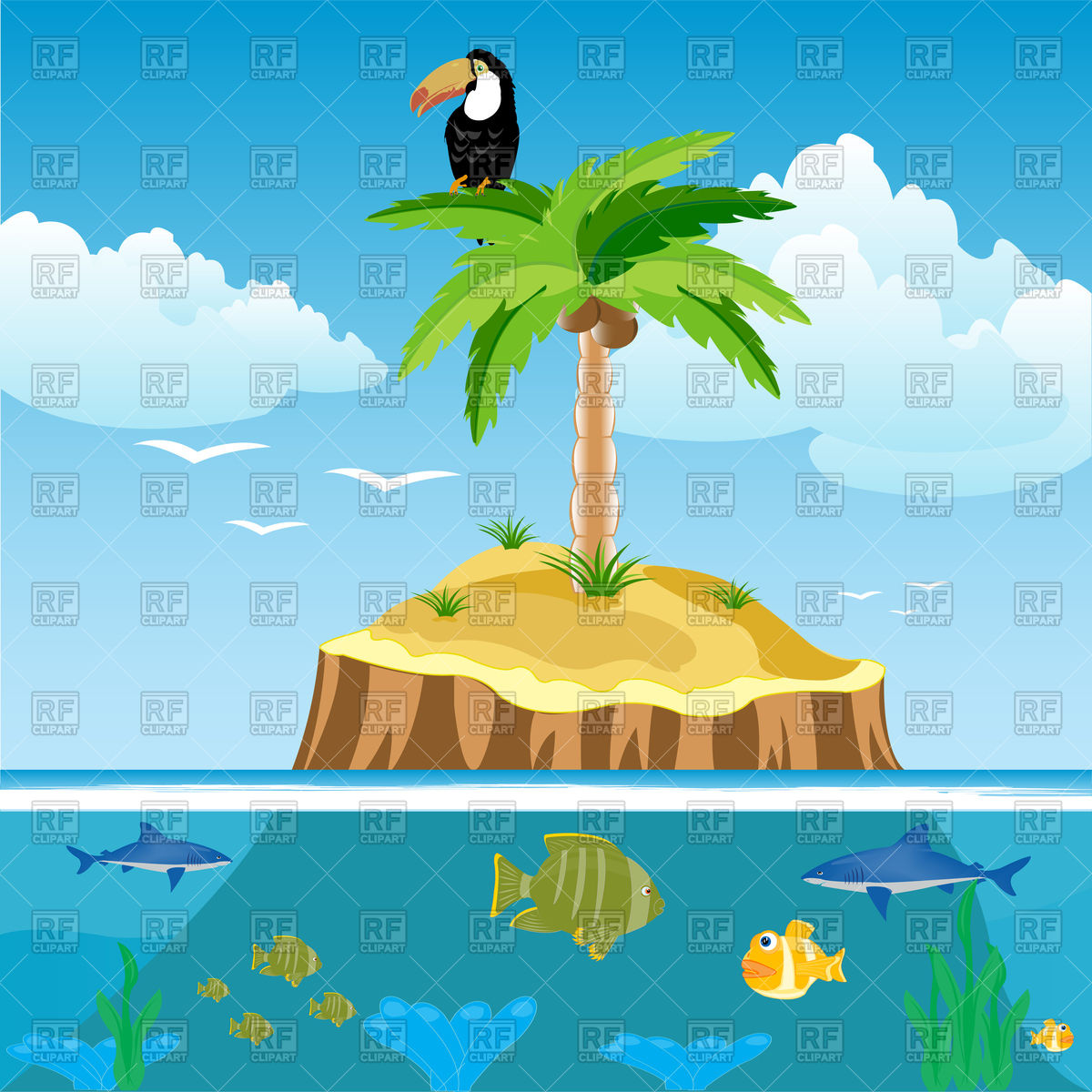 Tree underwater clipart.