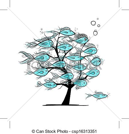 Underwater Tree Clipart.