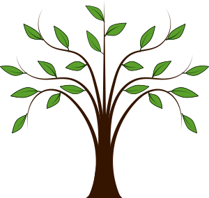 Whispy Tree by @dear_theophilus, clip art, clipart, forest.