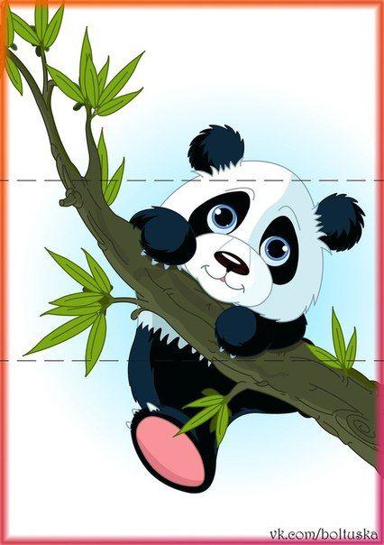 Sticker giant panda climbing tree.
