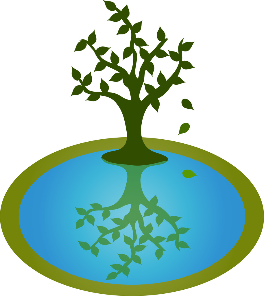 Tree water clipart silhouette.