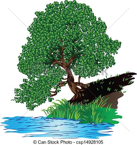 Trees water clipart jpg.