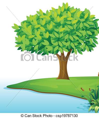 Trees water clipart jpg.