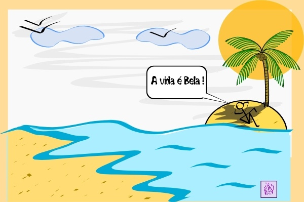 Island Palm Tree Water clip art Free vector in Open office drawing.