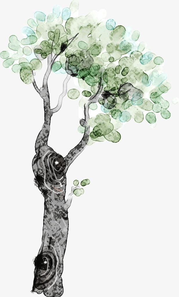 Watercolor Tree PNG, Clipart, Green, Leaves, Tree Clipart.