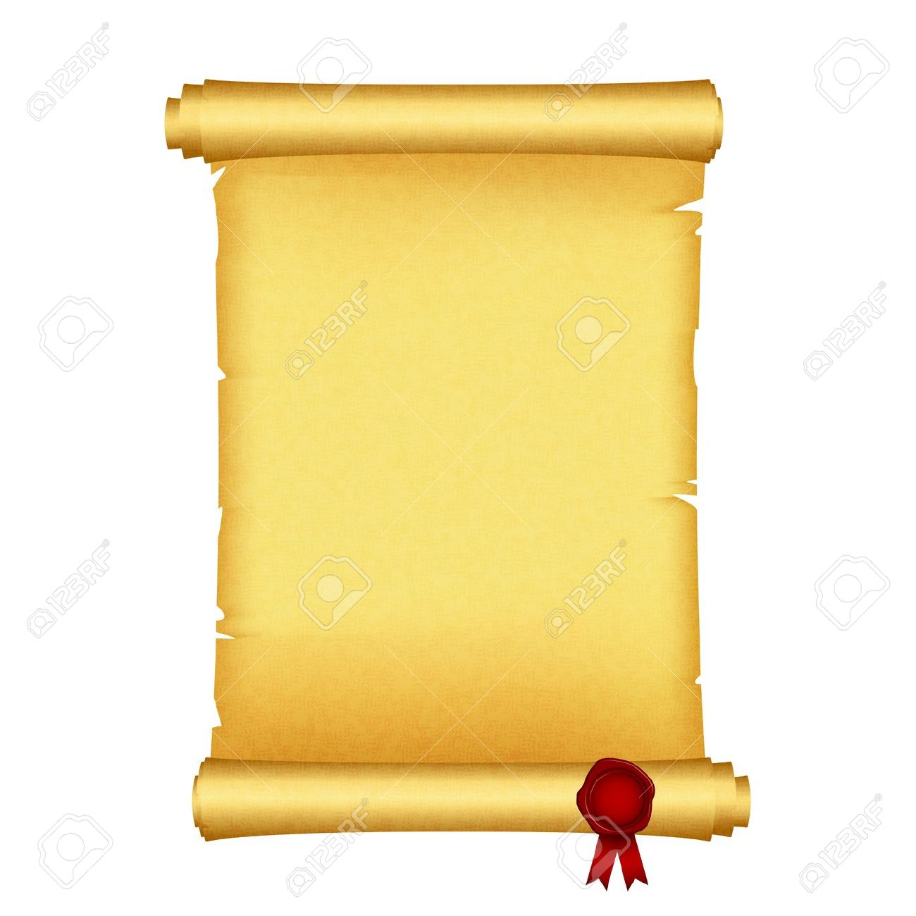 Red scroll tree clipart.