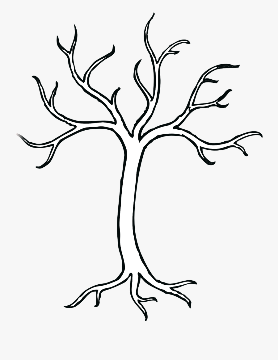 Tree With 5 Branches , Free Transparent Clipart.