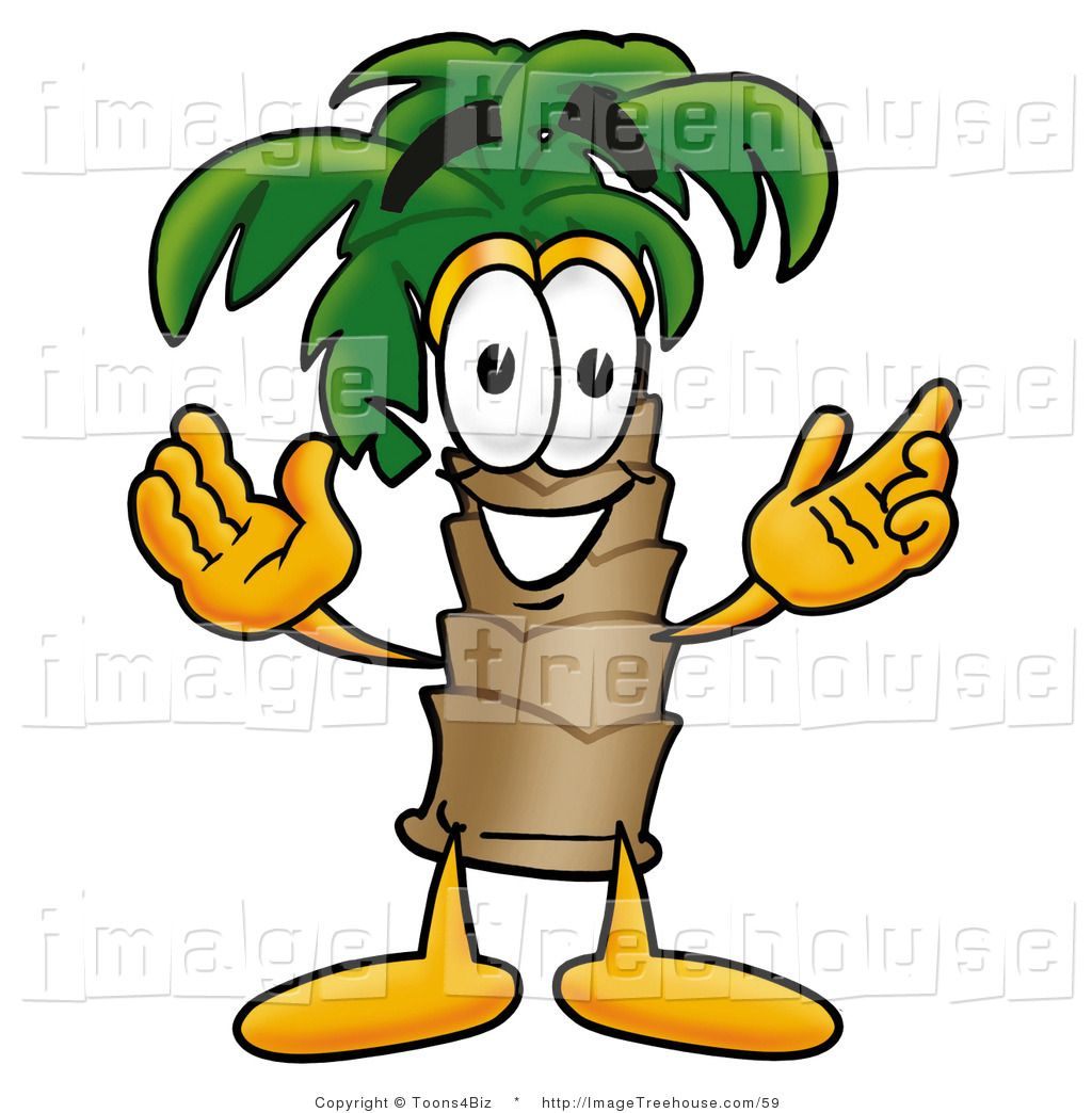 Image result for cartoon palm tree face.