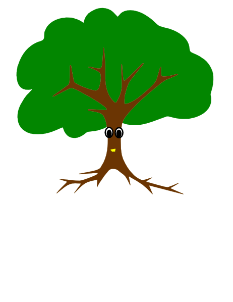 Tree With Face PNG Clip arts for Web.