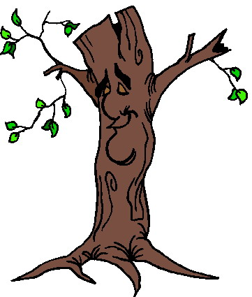 Tree With A Face Clipart.