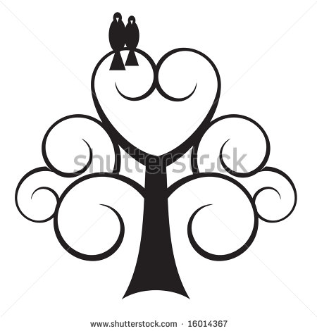 Tree With A Heart Clipart.