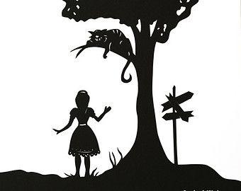 Silhouette Alice In Wonderland.