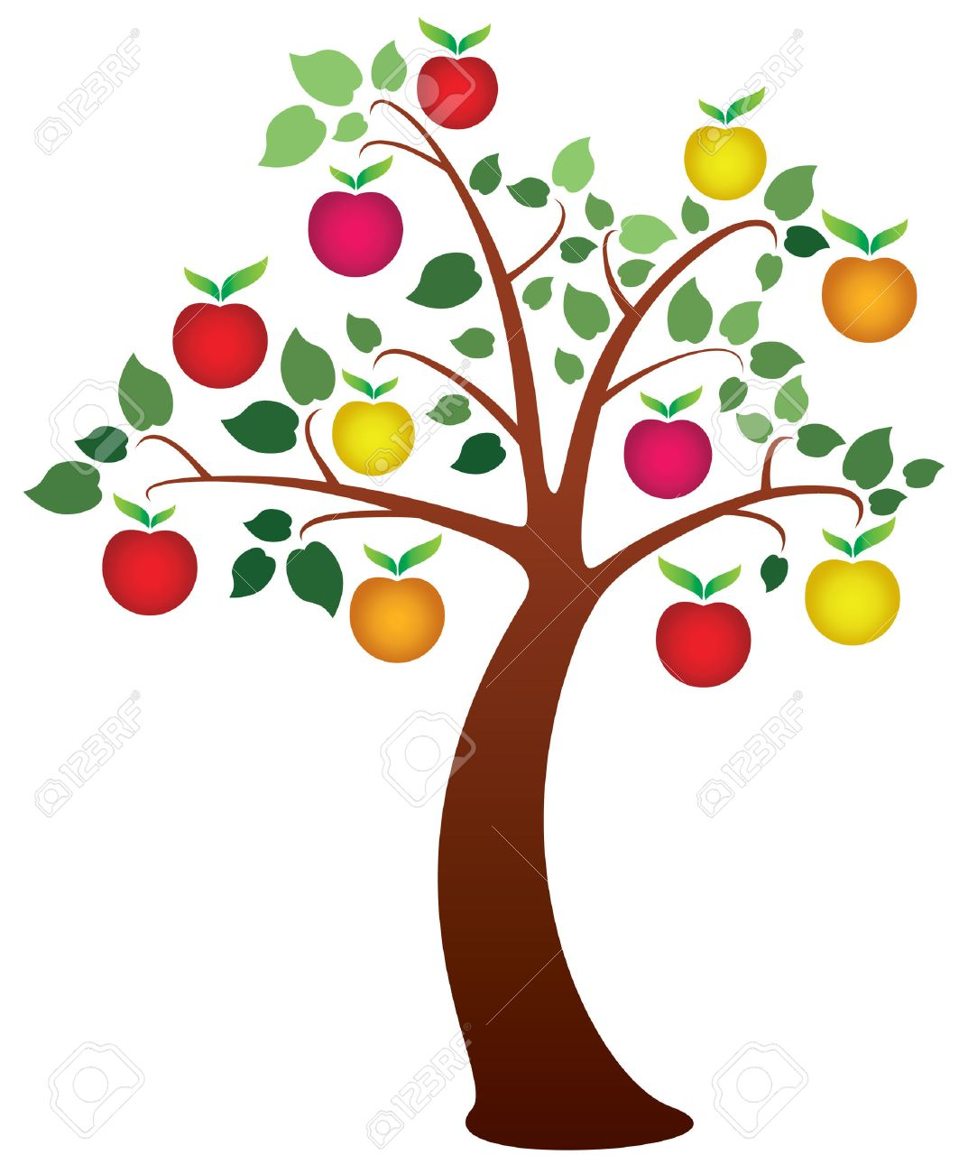 Tree with fruits clipart 7 » Clipart Station.
