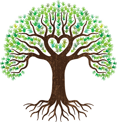 Free Transparent Tree With Heart Roots, Download Free Clip.