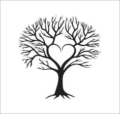 Tree With Heart Clipart.