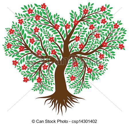 Tree Heart Clipart.
