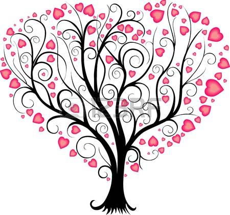 tree with heart in it clipart - Clipground