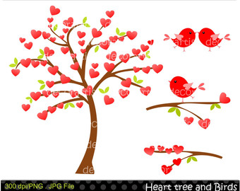 tree with heart in it clipart #17