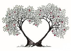 tree with heart in it clipart #12
