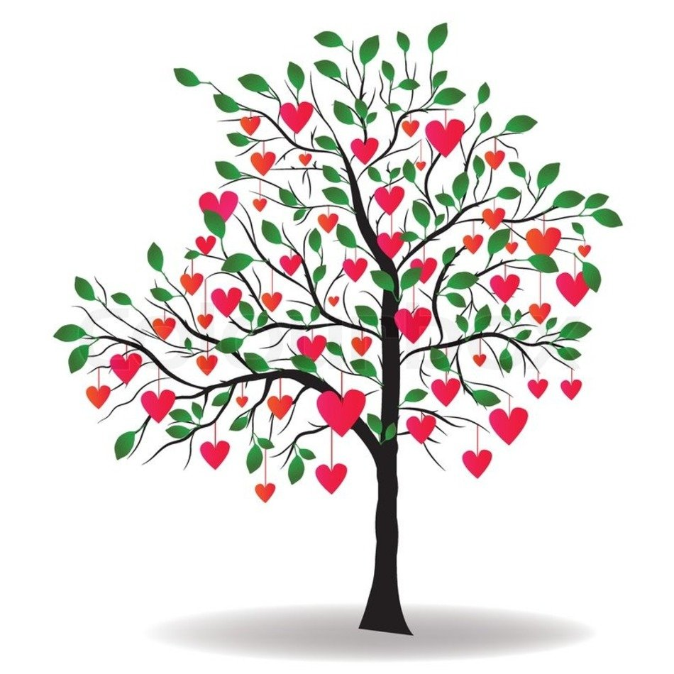 Heart Clip Art Tree With Leaves N3 free image.