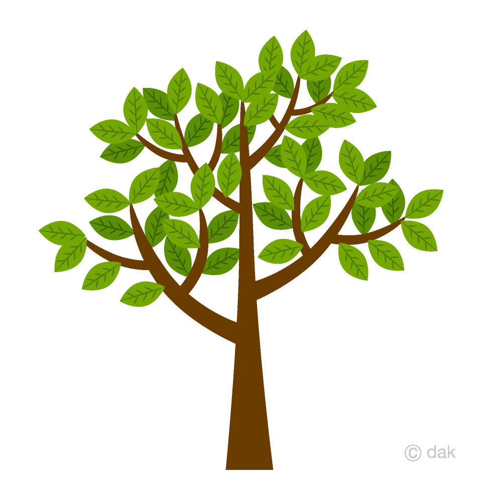 Free Tree with leaves Clipart Image|Illustoon.