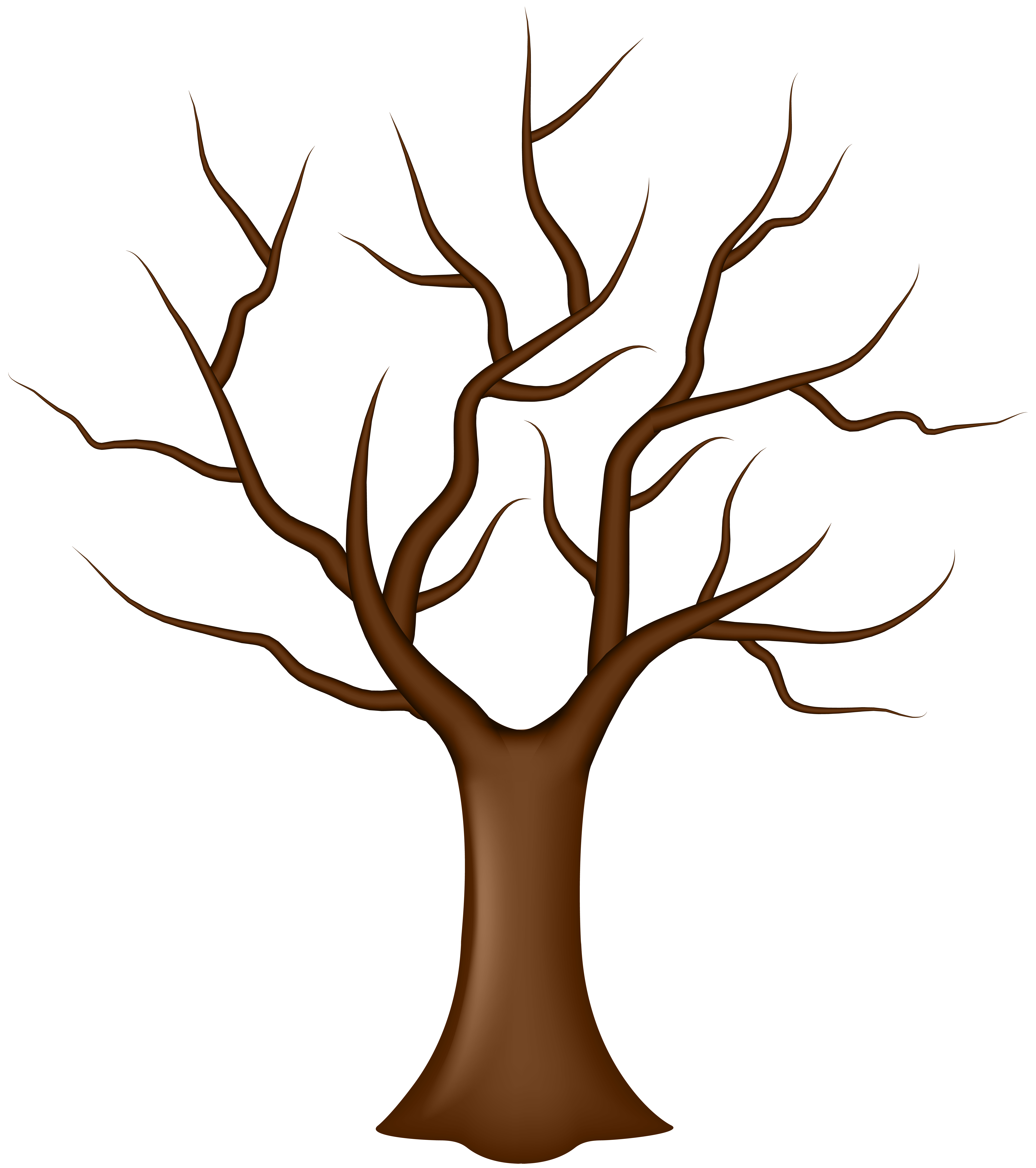 Tree without Leaves PNG Clip Art.