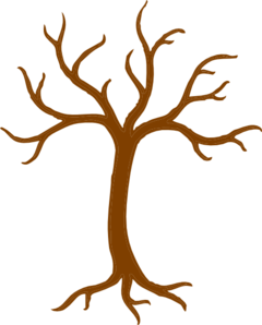 Bare Tree With Roots clip art.
