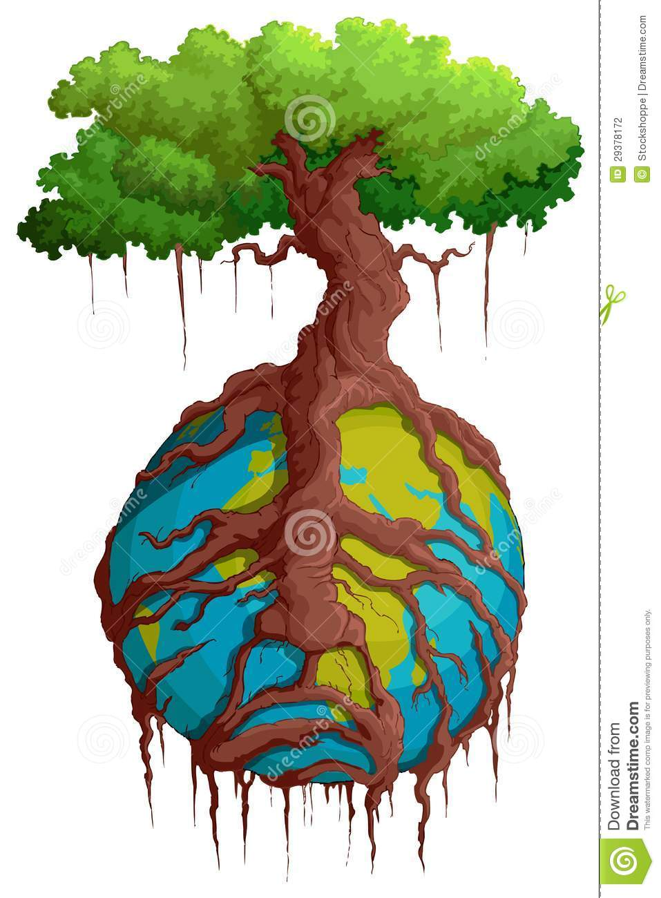 Tree Root Holding Earth Stock Photography.