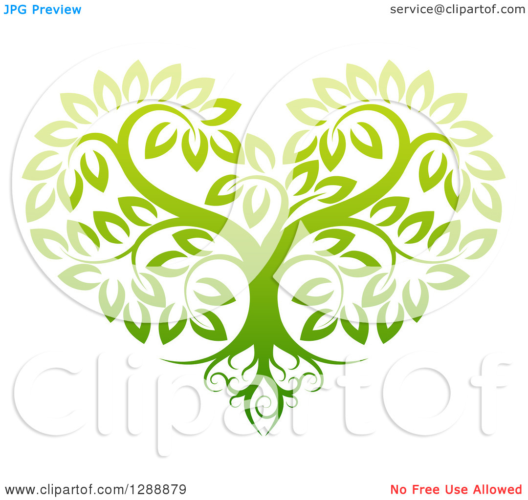 Tree With Roots Around Earth Clipart.