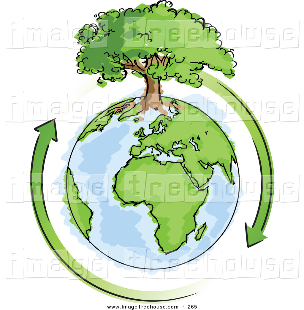 Showing post & media for Globe tree with roots cartoon.