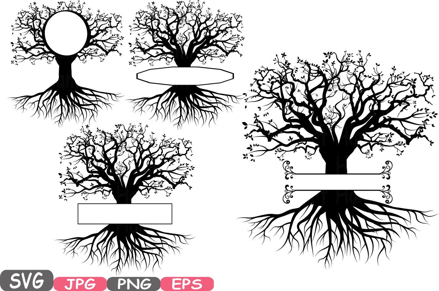 Family Tree With Roots Clipart.