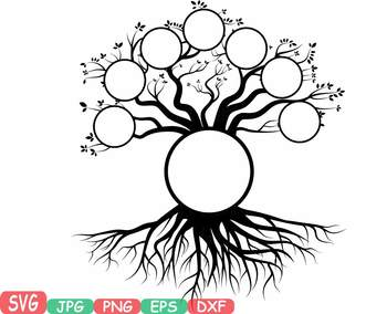 Family tree clip art Word Art Branche SVG past Tree Deep Roots quote.