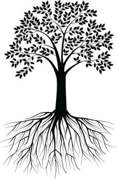 Tree With Roots Clipart Outline Clipground