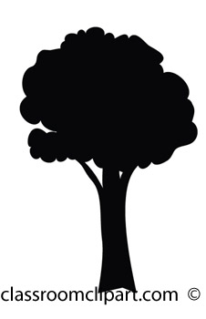 Clipart Tree Silhouette.