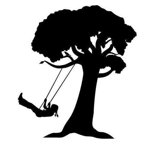 Silhouette Tree Swing.