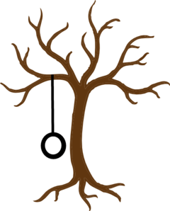 Bare Tree With Tire Swing clip art.