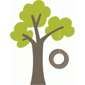Tree With Tire Swing Clipart.
