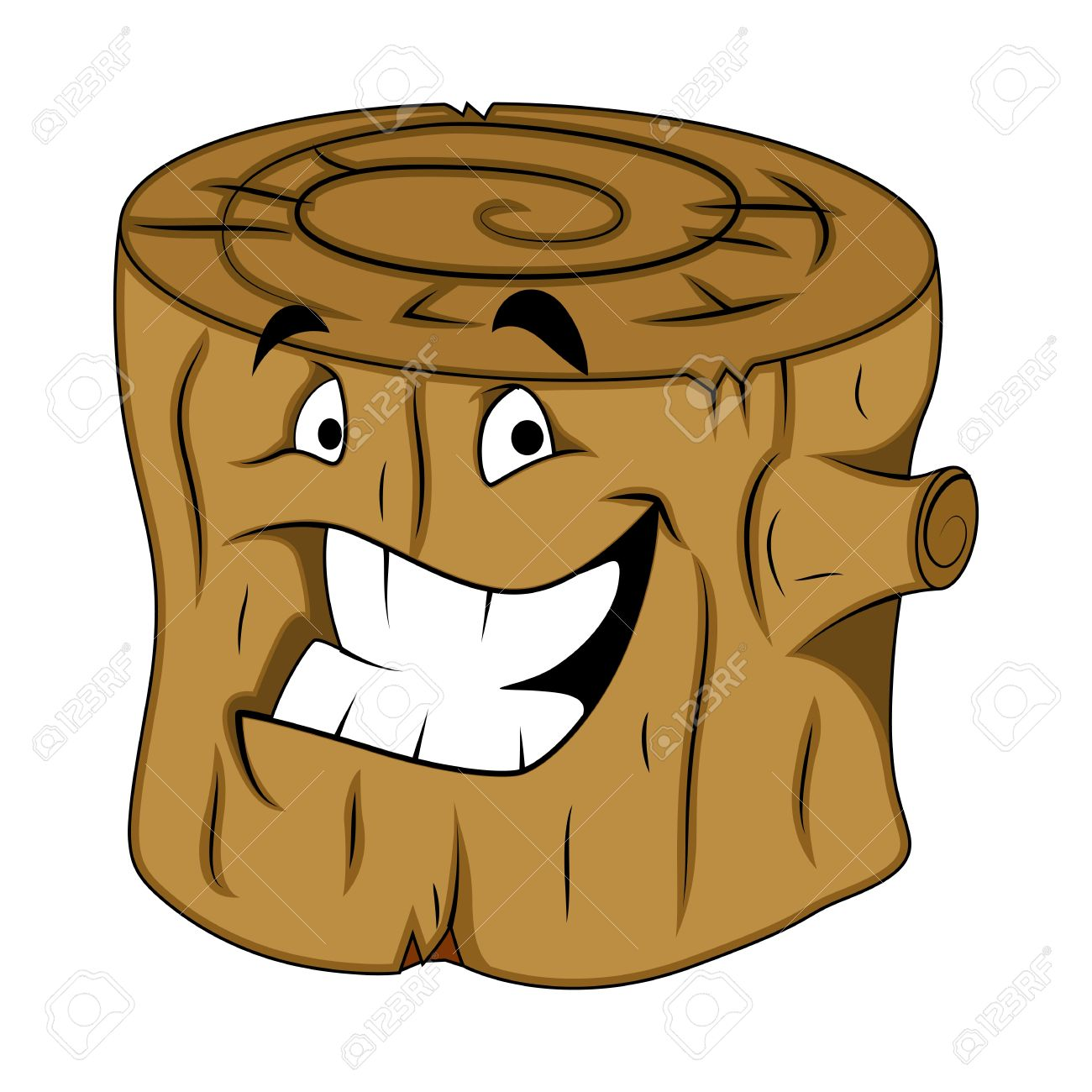 Tree Stub Character Royalty Free Cliparts, Vectors, And Stock.