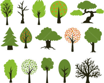 Clipart of trees forest.