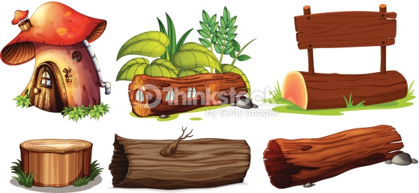 Different Uses Of Woods Vector Art.
