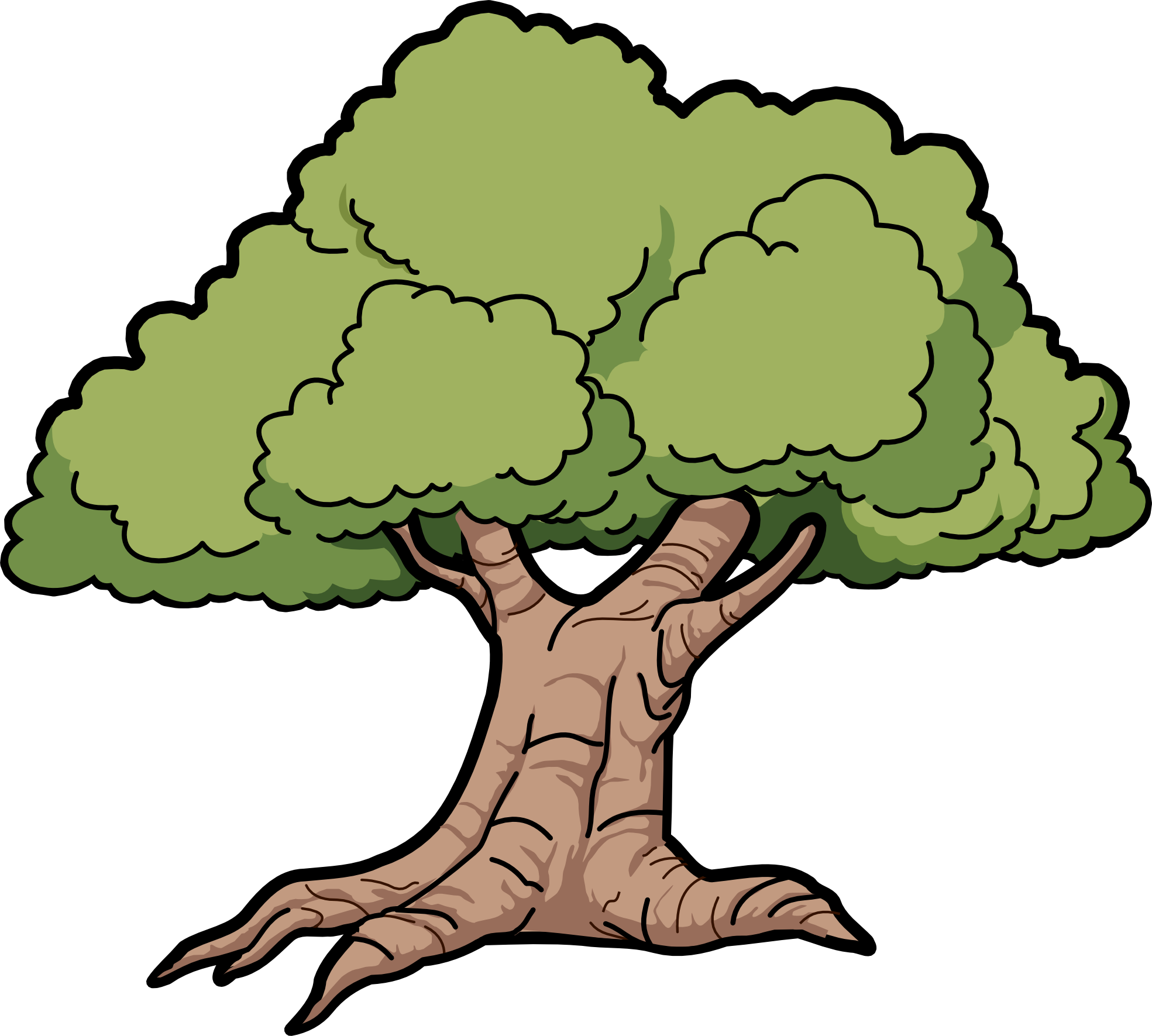 Wood Oak Tree Clipart.