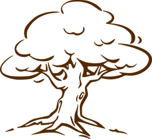 Wood tree clipart.