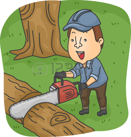 Showing post & media for Chainsaw cut down tree cartoon.
