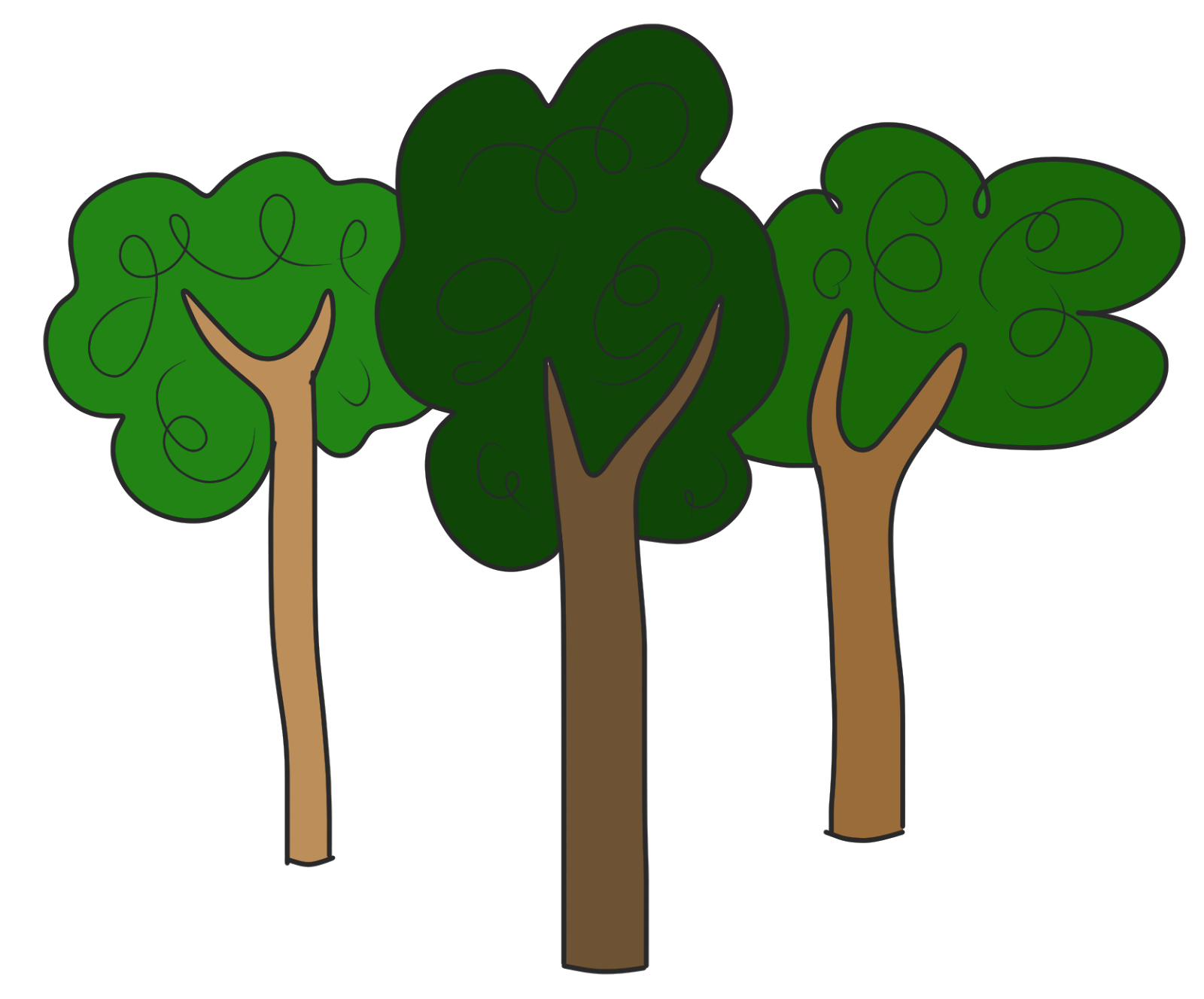 Clipart trees.