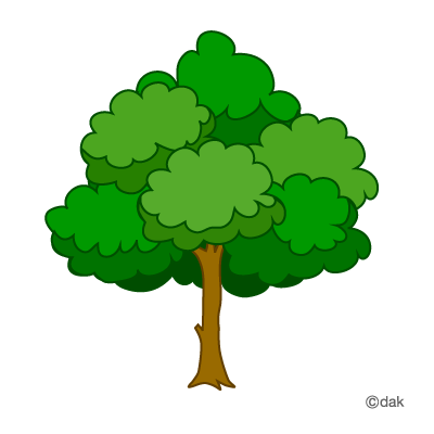 Large green tree clipart tree art trees and green.