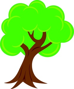 Spring Trees Clipart.