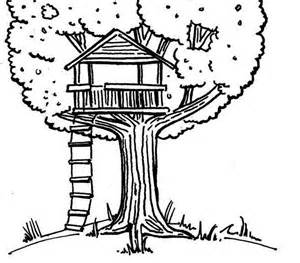 Tree House Clipart Black And White.