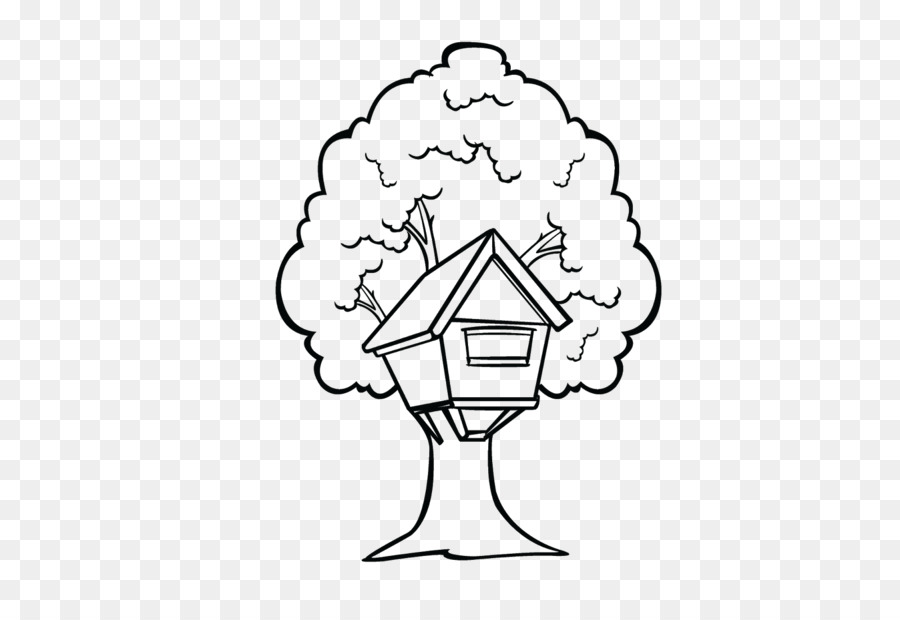Tree house Black and white Clip art.