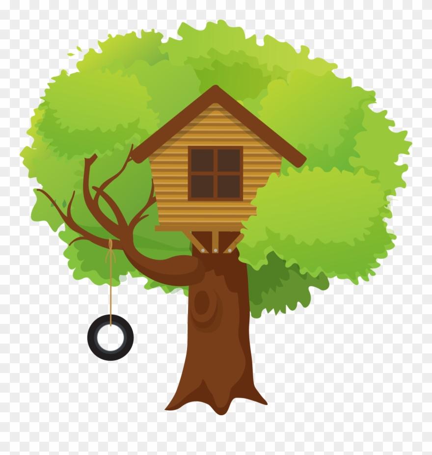 Tree House Illustration Clipart (#2354418).